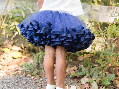navy blue tutu skirt on little girl