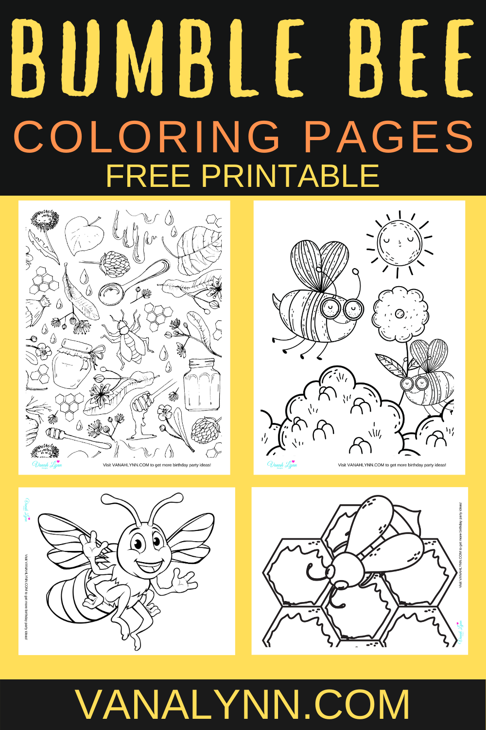 free printable bumble bee coloring pages for a toddler