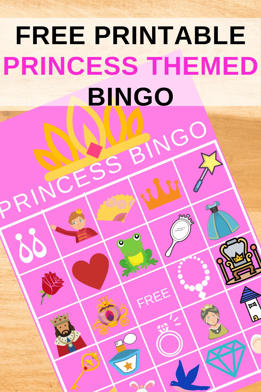 free princess bingo cards