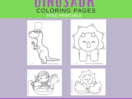 Dinosaur Coloring Pages | Free Printable Dinosaur Activity | Dinosaur Themed Freebies for Party