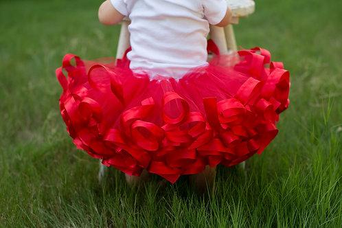 christmas red tutu skirt on baby girl
