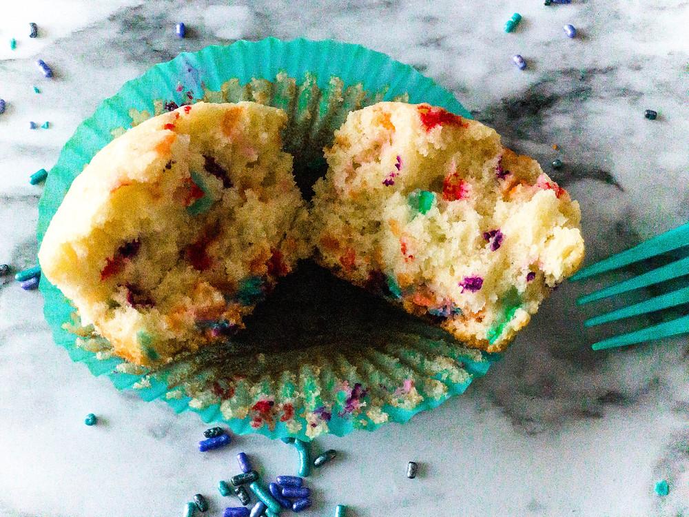 sprinkles inside cupcake batter