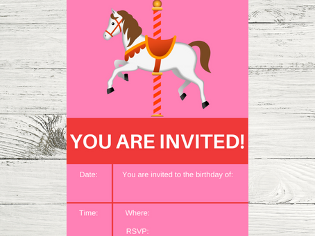 Carousel Invite | Free Printable Carousel Themed Invitation | Carousel Birthday Party Ideas