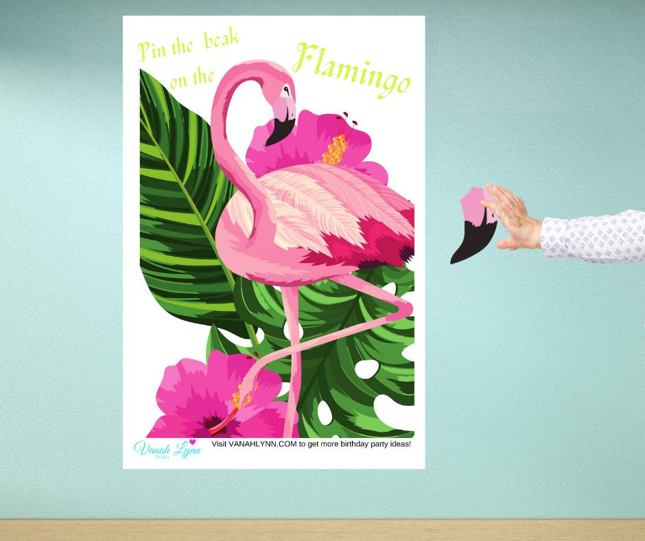 free printable flamingo birthday party games for kids