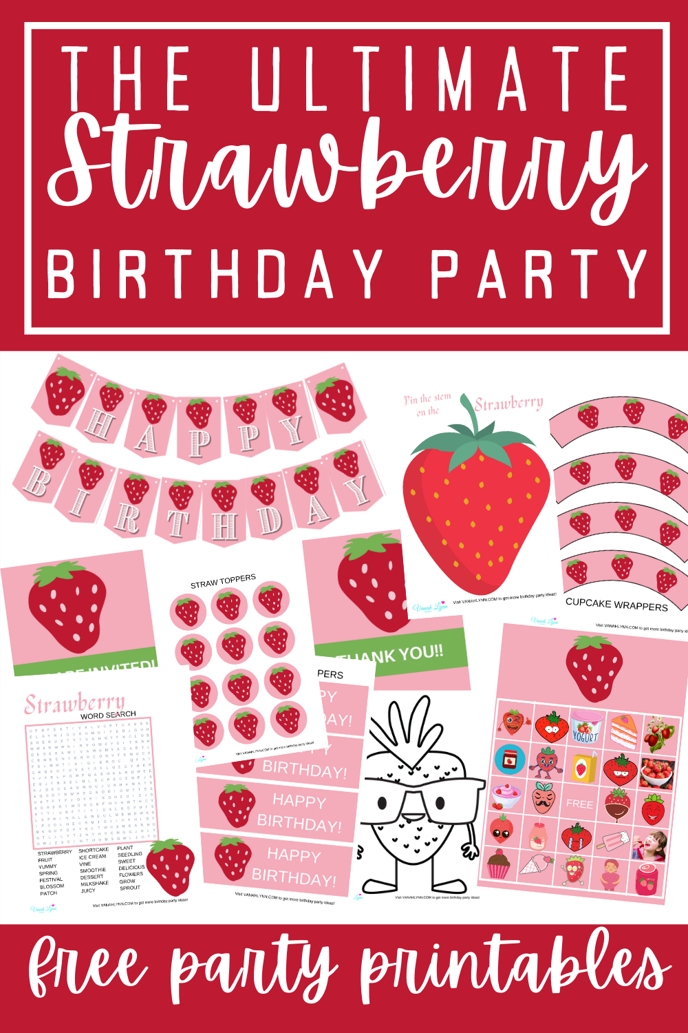 strawberry birthday party ideas for little kids