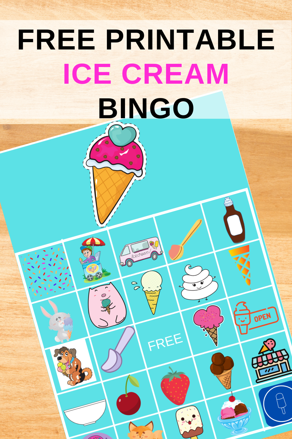 free printable ice cream themed party ideas