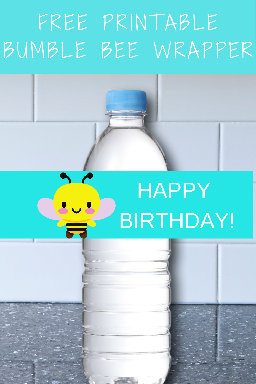 1st birthday bumble bee water bottle wrapper