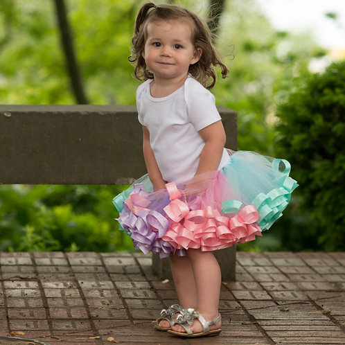 pastel tutu skirt on a small child
