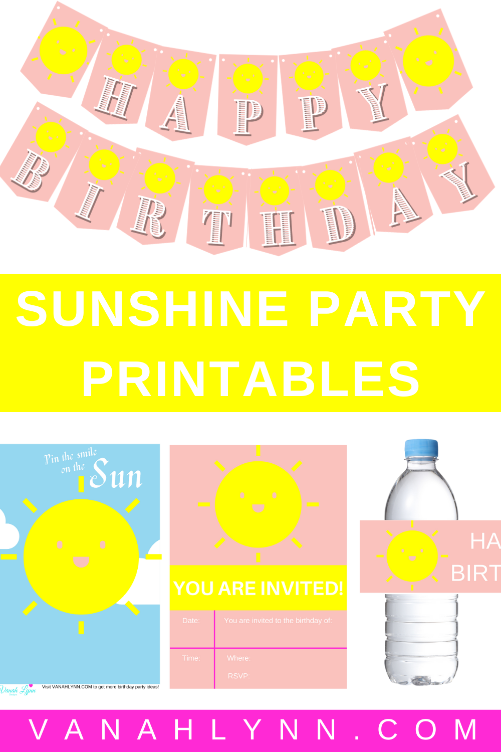 you are my sunshine kids birthday party ideas