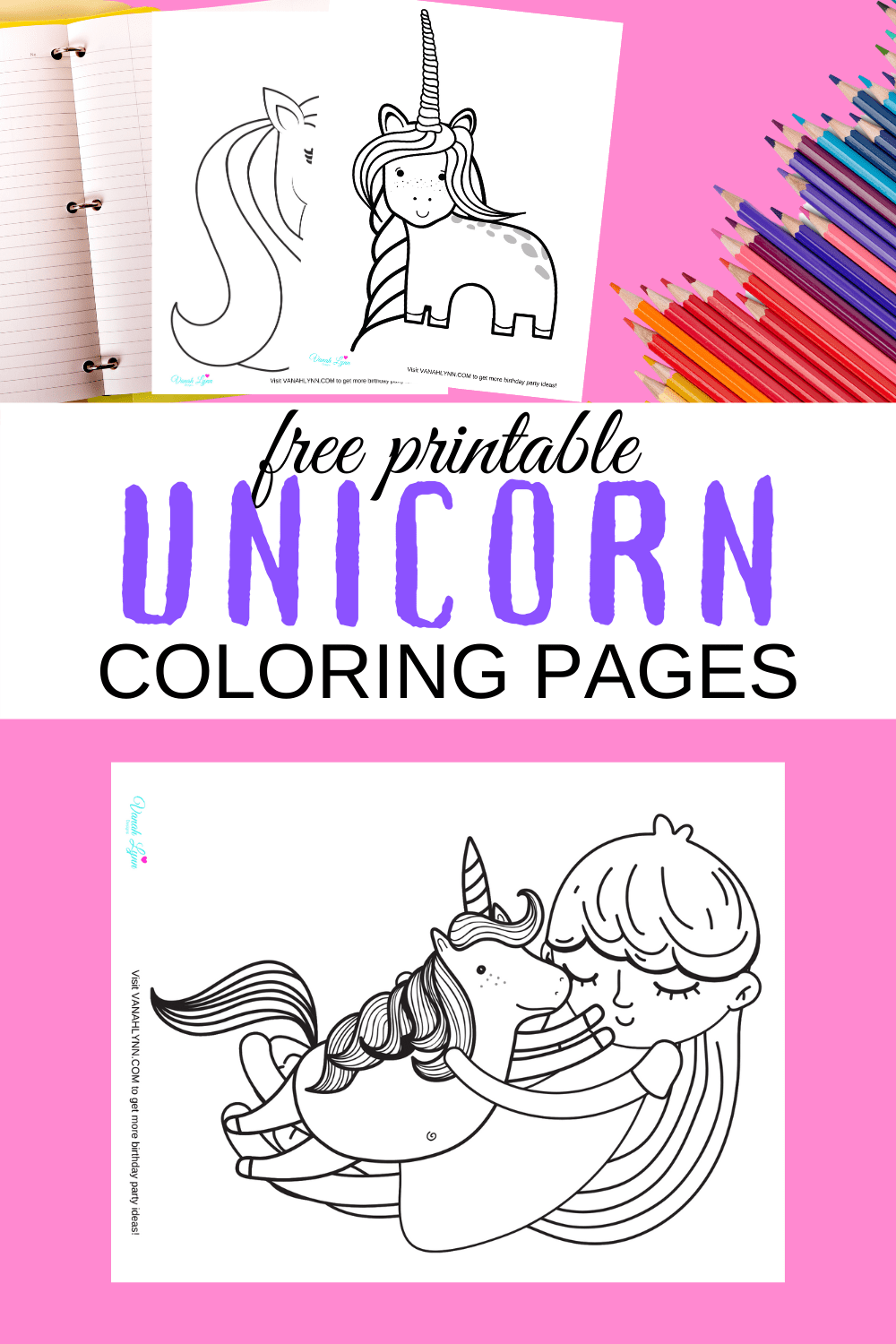 unicorn cute coloring pages