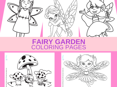Fairy Garden Coloring Pages | Free Printable Fairy Garden Activity Sheets | Fairy Garden Party Ideas