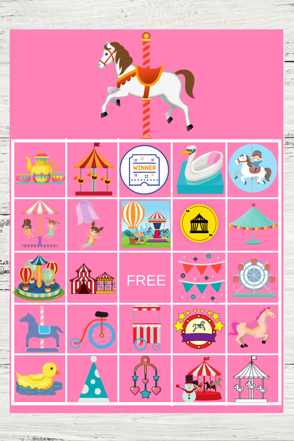 free printable carousel themed party ideas