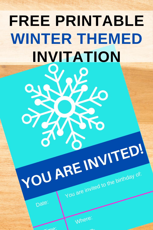 ice princess themed birthday party printables