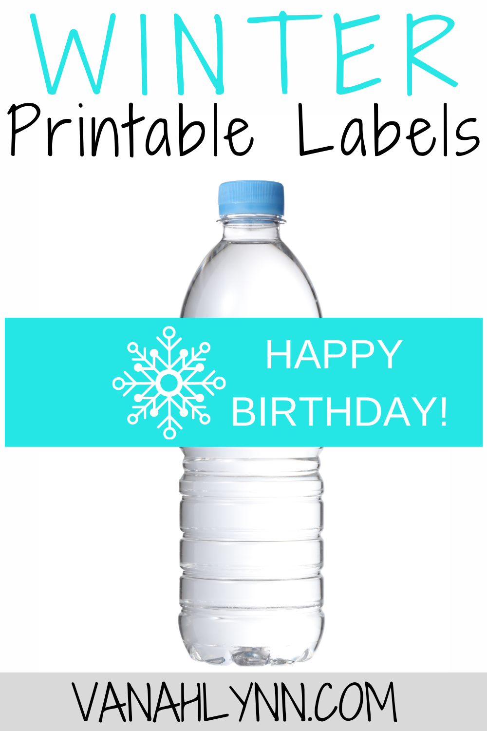 free printable ice princess water bottle wrapper