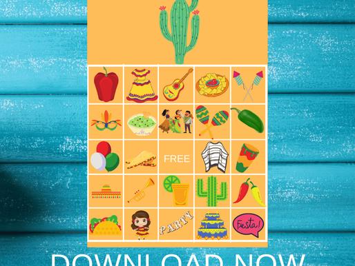 FREE Printable Fiesta BINGO