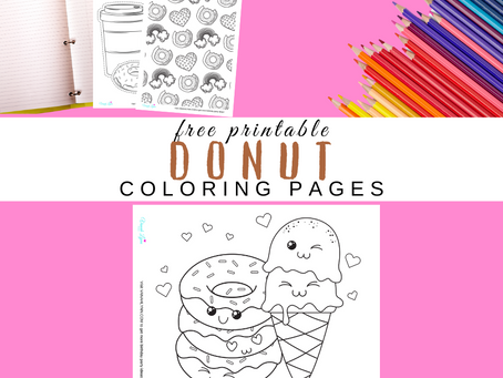 Donut Coloring Pages | Free Printable Donut Activity Sheets | Donut Themed Birthday Party Ideas