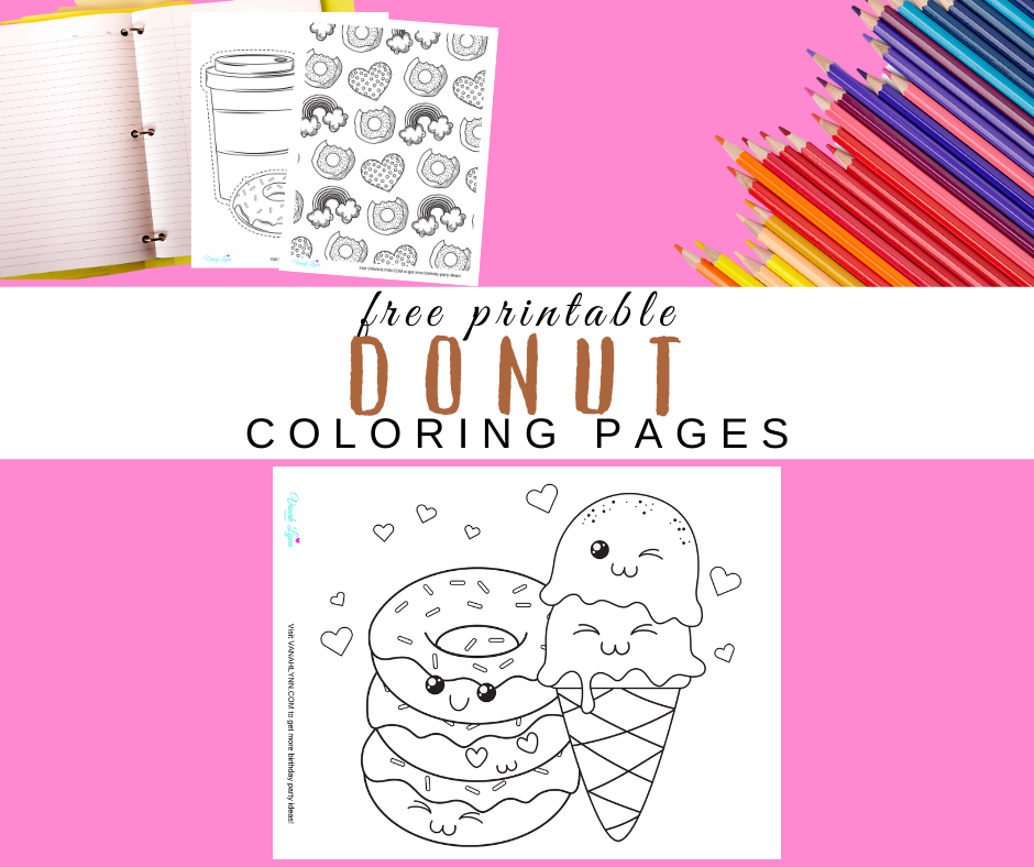 donut coloring pages for a donut birthday party
