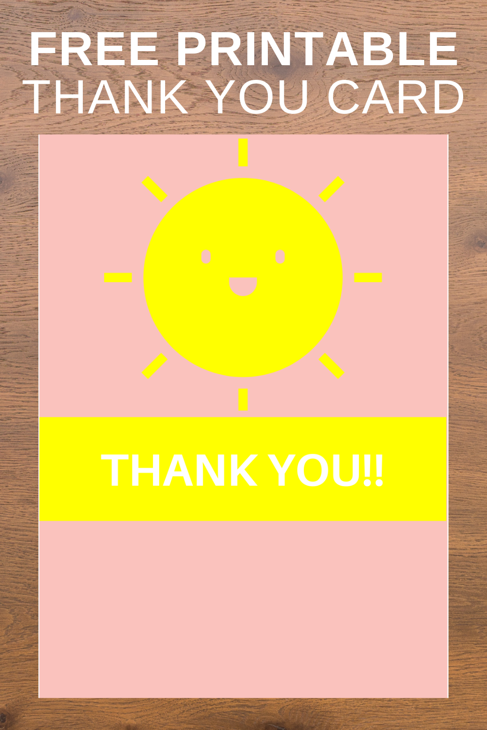 free download: sunshine printables thank you card