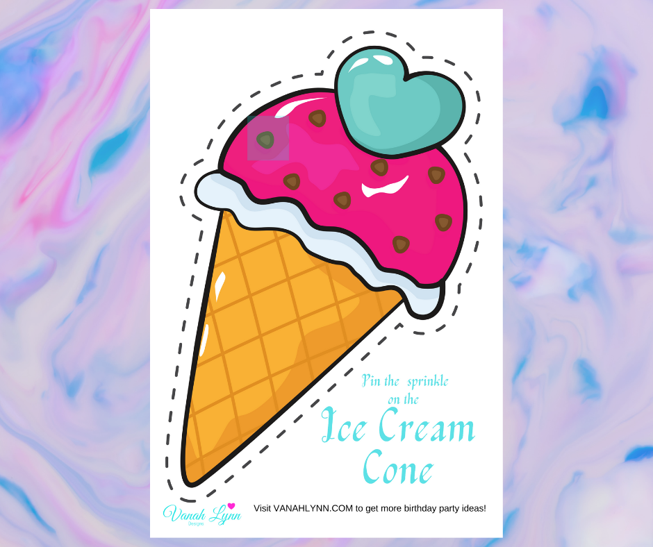 free printable ice cream birthday party games for kids