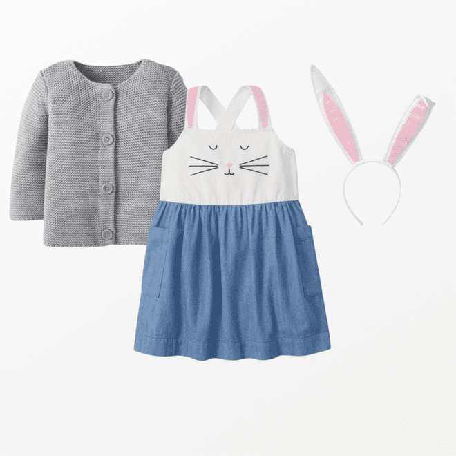 Easter bunny accessories for baby girl