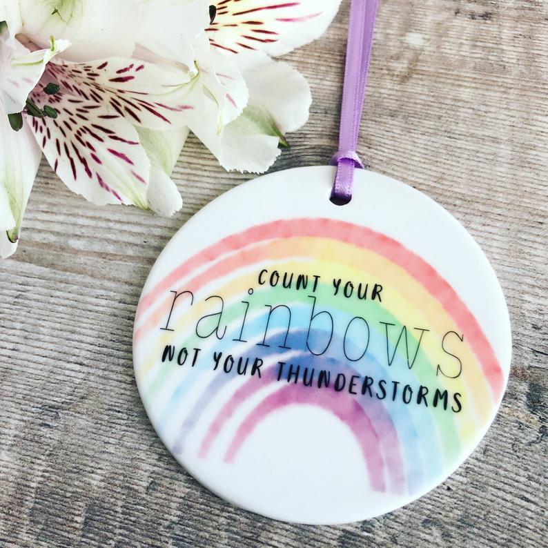 Rainbow ornament for little girls