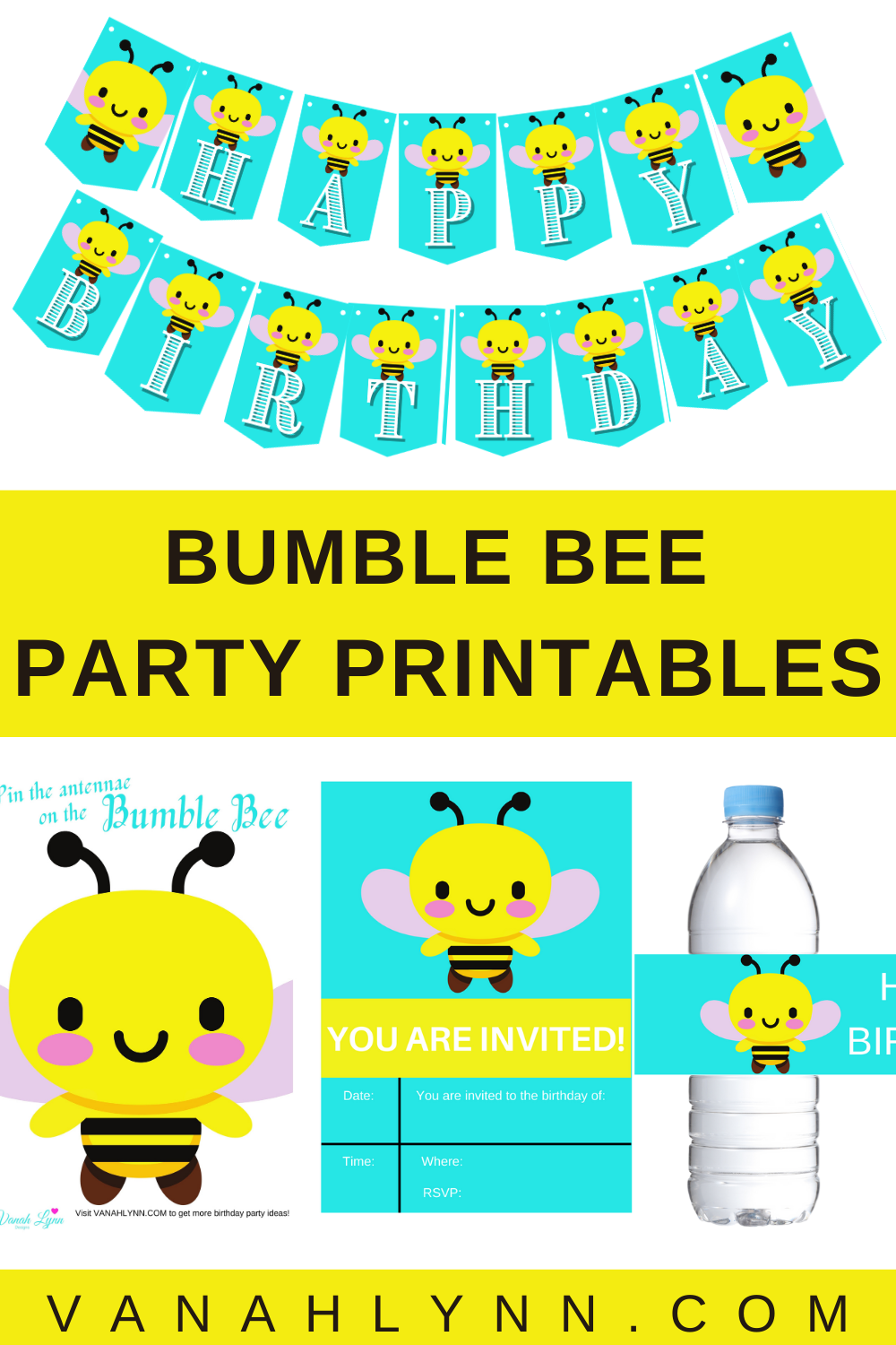 instant download: bumble bee birthday party games