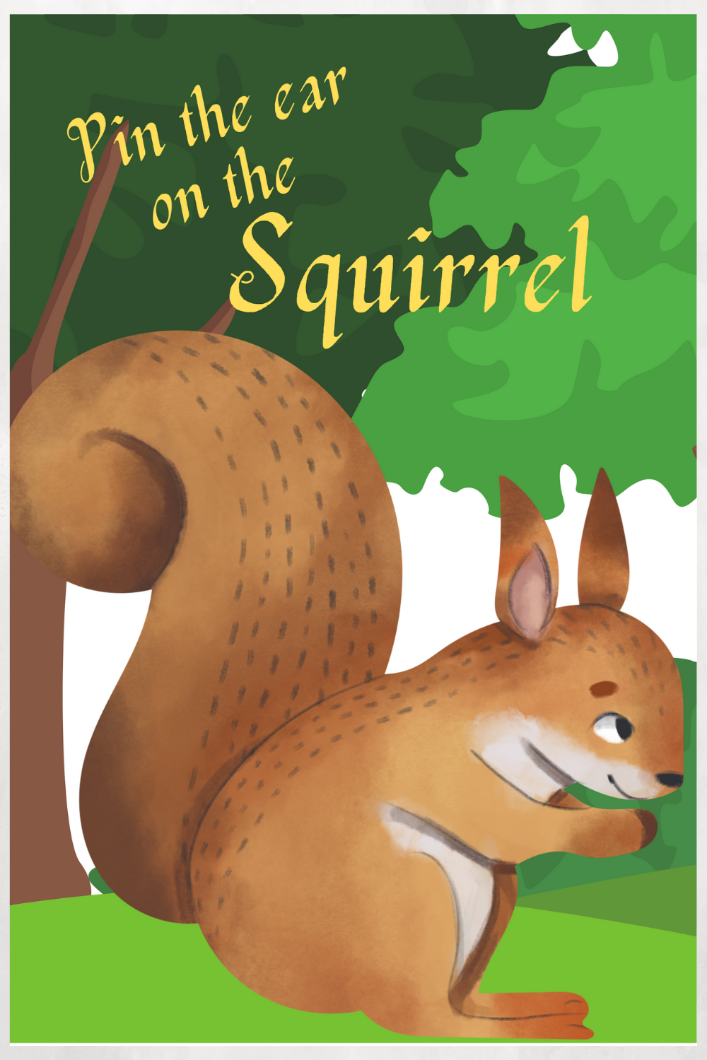 squirrel birthday party games for kids