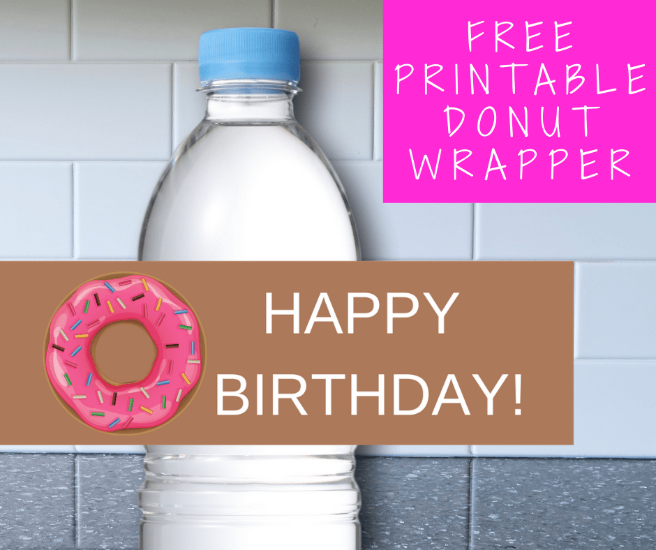 donut water bottle labes
