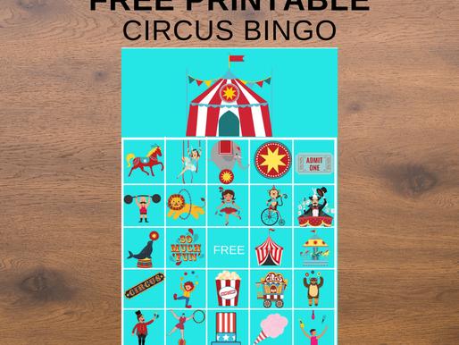 FREE Printable Circus BINGO Game