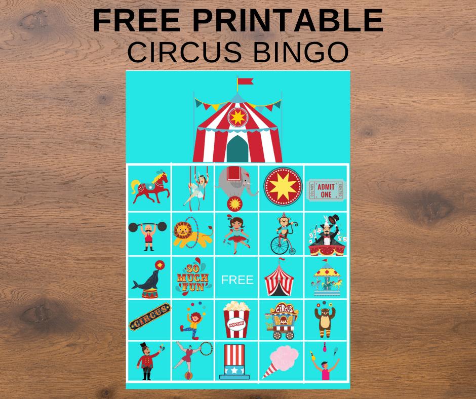 circus bingo printable free