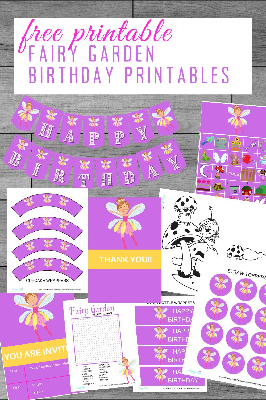 free printable fairy party kit