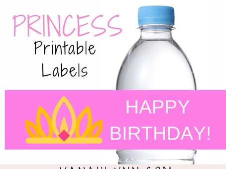 Princess Water Bottle Label | Free Printable Happy Birthday Wrapper