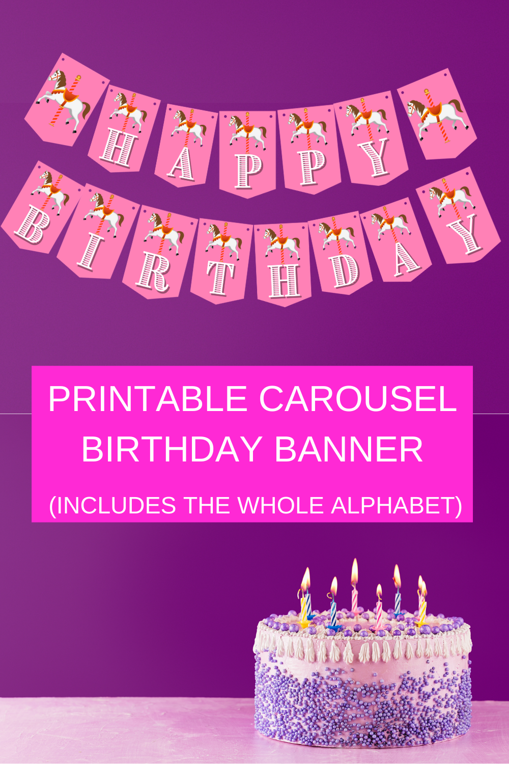 first birthday banner for a birthday party