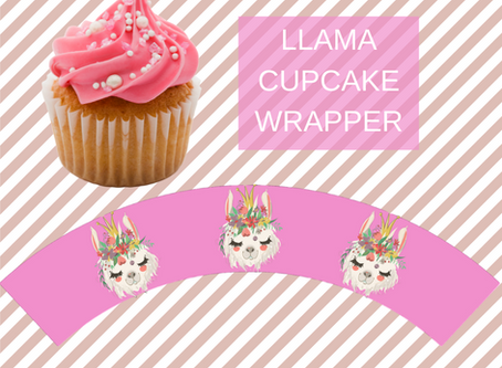 Llama Birthday Cupcake Wrappers | Free Download