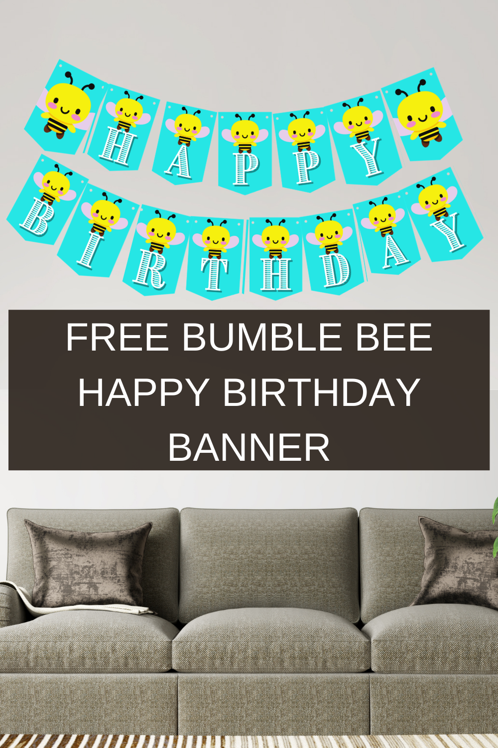 First birthday banner for a bumble bee birthday party