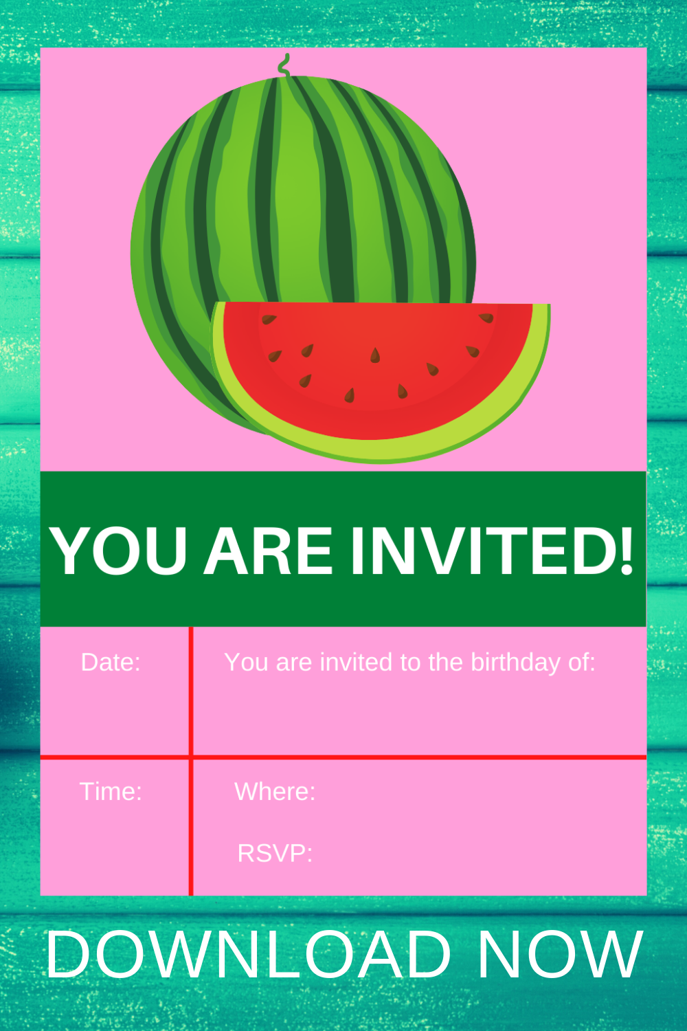 watermelon birthday party free printable for toddlers