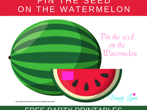 Watermelon Party Game: Pin the Seed to the Watermelon | Watermelon Themed Birthday Activity