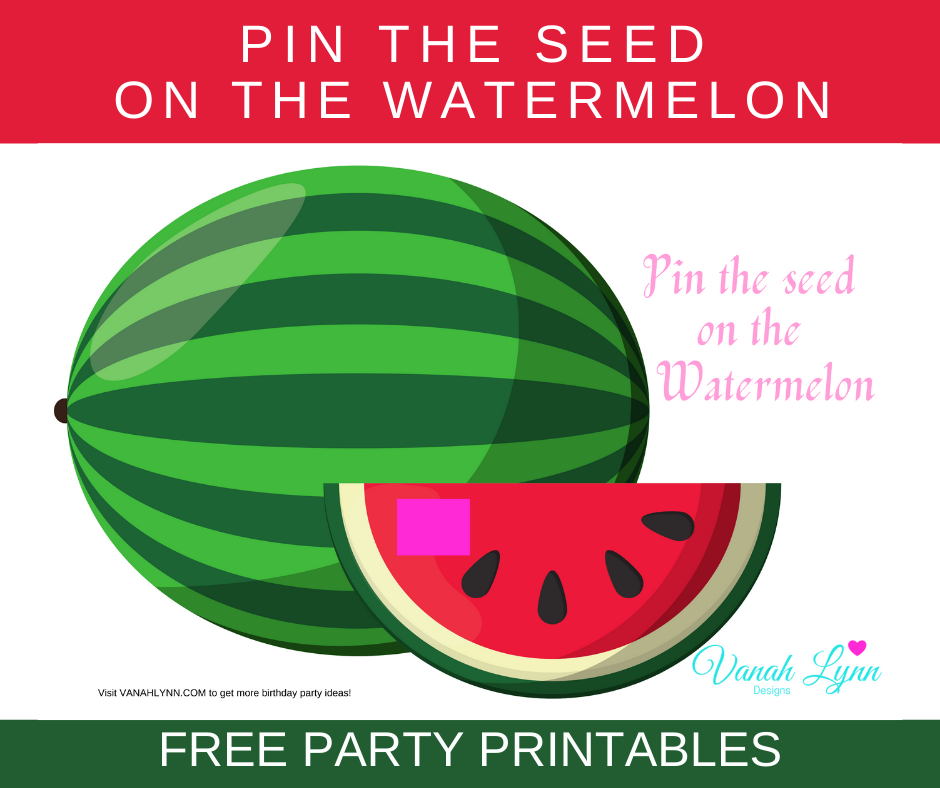 watermelon birthday party games for kids