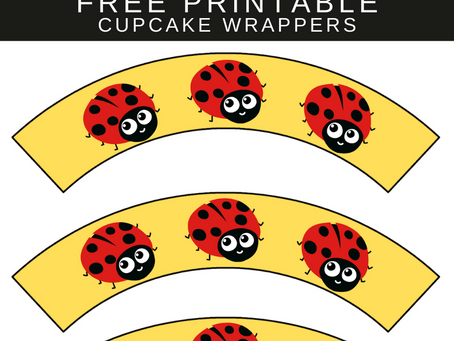 Ladybug Cupcake Wrappers | Free Printable Ladybug Party Decorations | Ladybug Birthday Party Ideas