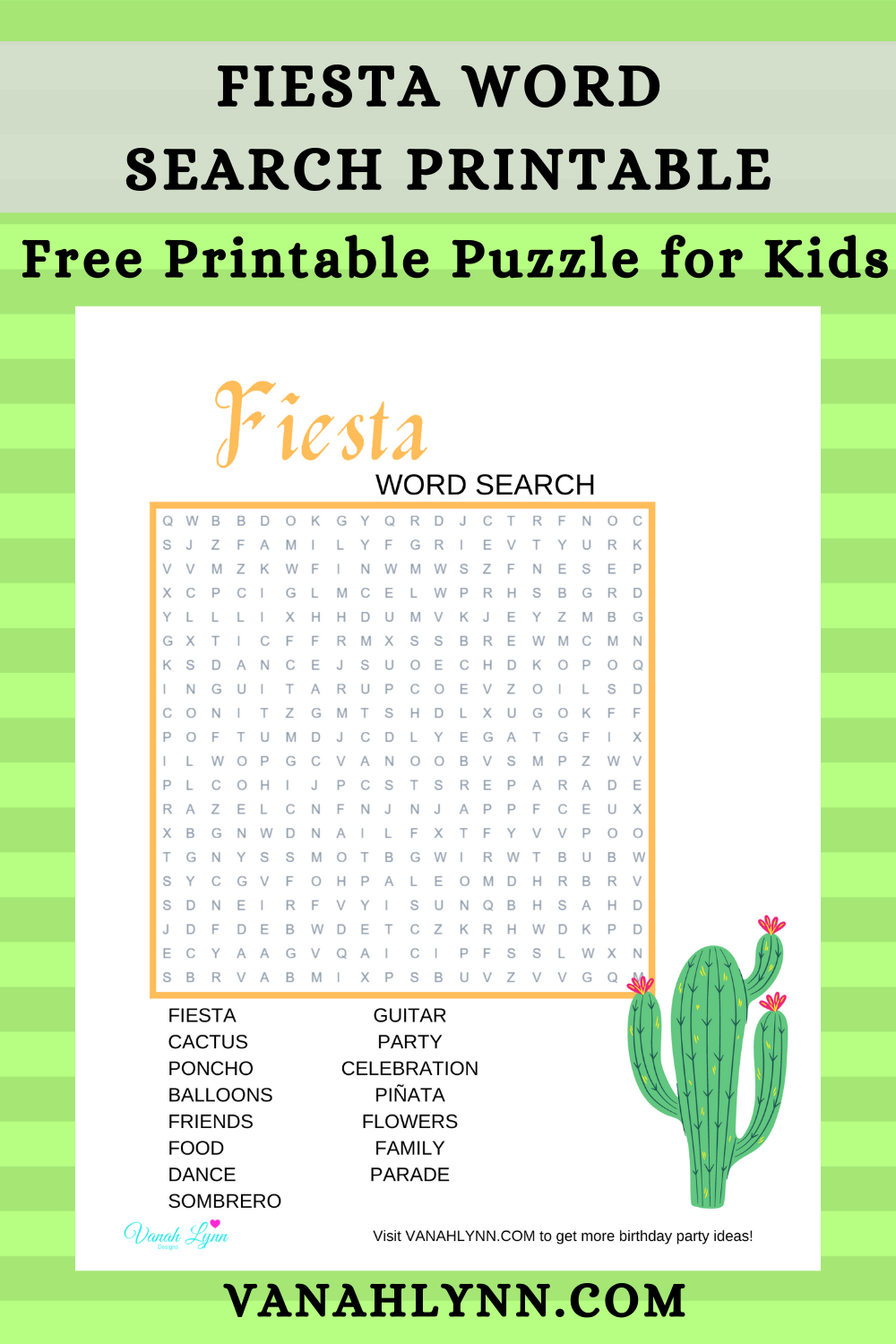 fiesta games ideas for a kids birthday party