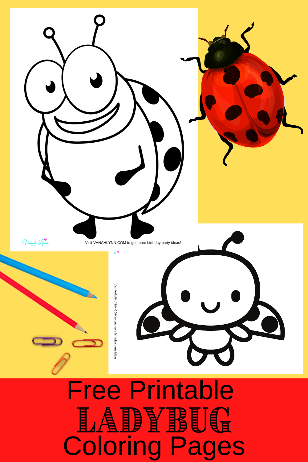 free printable ladybug coloring sheets for toddlers