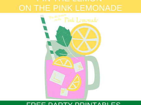 Pink Lemonade Party Game: Pin the Lemon on the Lemonade | Pink Lemonade Birthday Activity