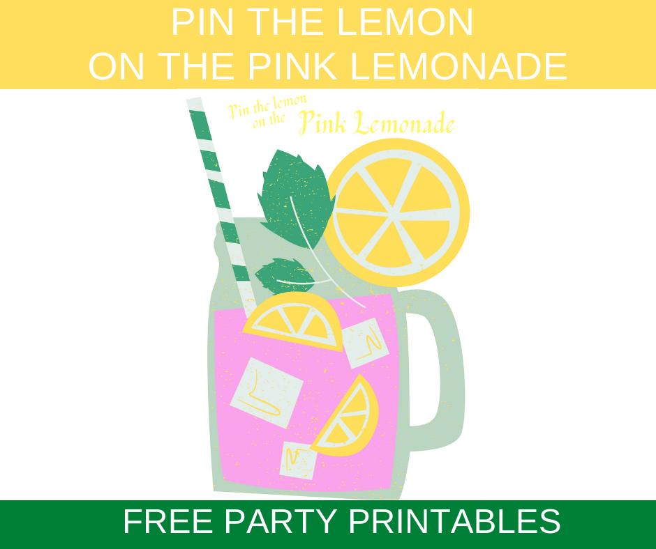 free printable pink lemonade birthday party games