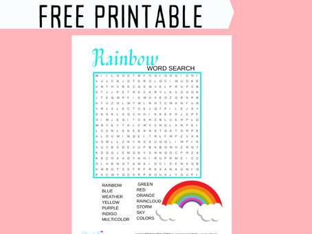 Rainbow Word Search | Free Printable Rainbow Activity