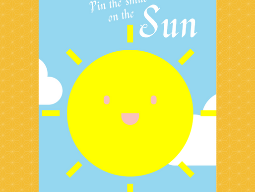 Sunshine Themed Party Game: Pin the Smile on the Sun | Sunshine Birthday Activity