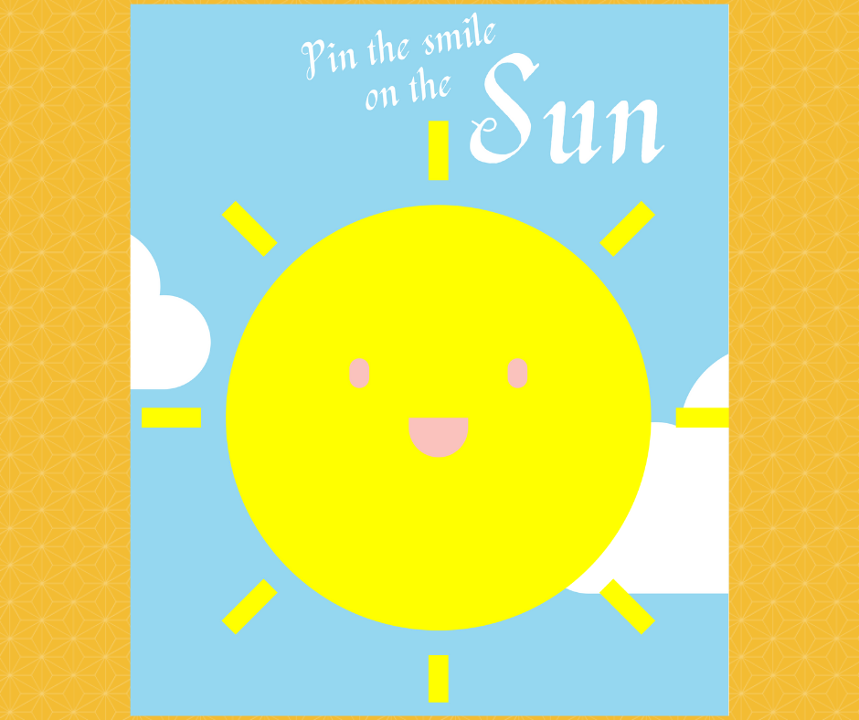 free printable pin the smile on the sun party game