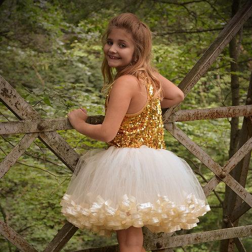 ivory tut skirt on big girl