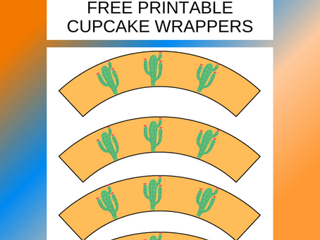 Fiesta Cupcake Wrappers | Free Printable Fiesta Party Decorations | Fiesta Birthday Party Ideas