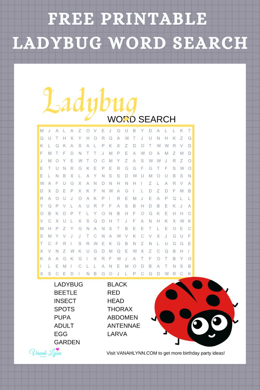 ladybug activity sheet for little girls birthday party