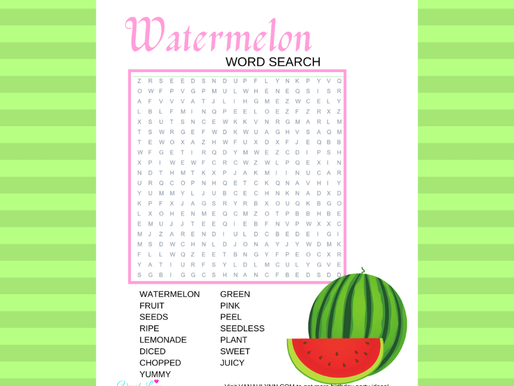 FREE Watermelon Word Find - Easy Kid's Word Search Puzzles